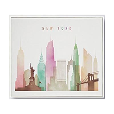 Urban Sketch Home Decor Architecture Travel Poster Fine Art New York Prints New York City Wall Decor Set of 2 New York Wall Art