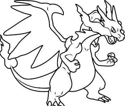 Coloring Page Pokemon Dragon Animasi
