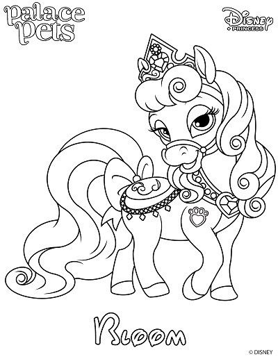 Princess Palace Pet Coloring Page Of Bloom