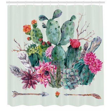 Home Bathroom Ideas In 2019 Cactus Shower Curtain Cactus