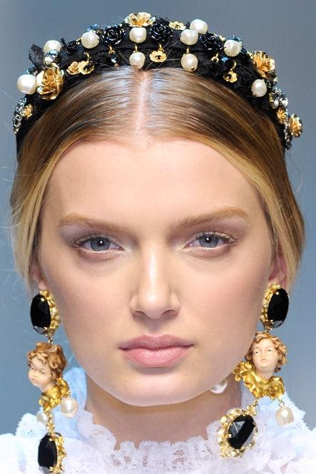 dolce and gabbana jeweled headband – embellish with beads and pearls - Haarschmuck