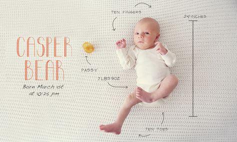 love this photo birth announcement