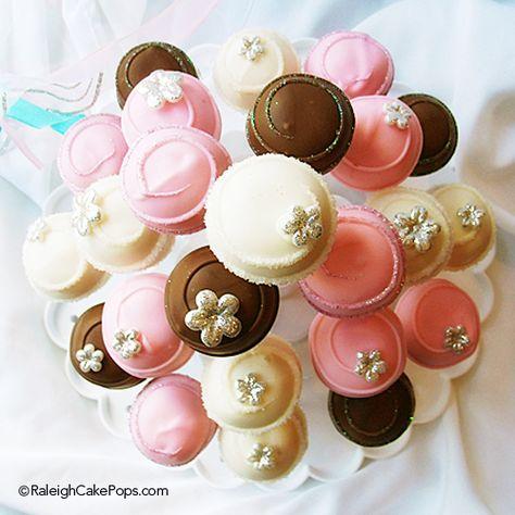 Pretty Glitter Cake Pops by Raleigh Cake Pops.