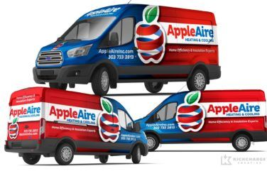 Vehicle Wrap Design For Appleaire Heating Cooling Cool Trucks Hot Rods Cars Muscle Car Wrap Design
