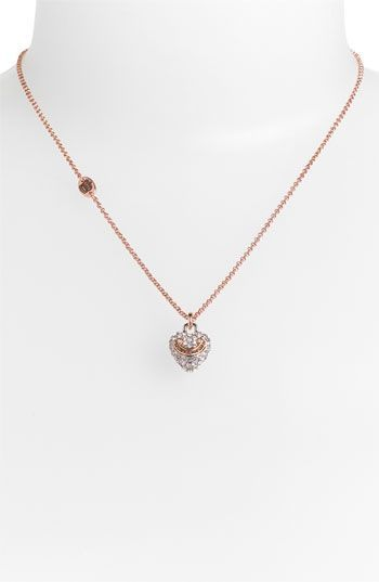 Juicy Couture Wish Pave Heart Necklace Nordstrom Stylesays Diamondheartnecklace Pave Heart Necklace Necklace Heart Necklace