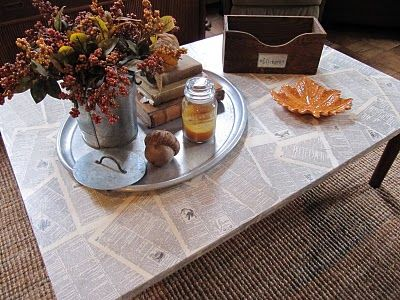 mod podge table top. for craft room