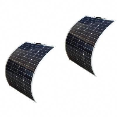 Windynation 100 Watt Bendable Flexible Thin Lightweight Monocrystalline Solar Panels 2 Pack Sol 100fv 02 Monocrystalline Solar Panels Solar Panels Solar Energy Panels