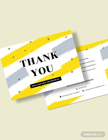 Business Thank You Card Template Word Doc Psd Apple Mac Pages Illustrator Publisher Business Thank You Cards Print Thank You Cards Thank You Card Template