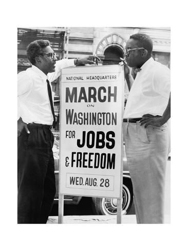 March For Jobs In Washington Dc Prints Allposters Com In 2021 Civil Rights Bayard Protest Signs