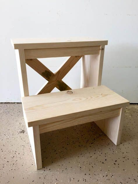 With A Single 1x8x8 Board You Can Create A Beautiful And Functional Project This Step Stool Was Easy To Step Stool Stool Woodworking Plans Diy Wood Projects