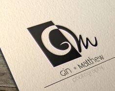 Gin Matthew Photography Logo design - logo suited for not only photography (as the example), but any kind of business in need of a simple, minimal black  & white logo with the initials G & M 300$ #uniqueartem
