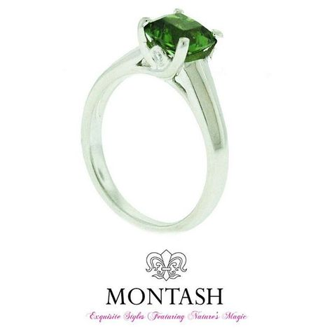 Loving the variety in the colours of #tourmaline like in this #green chrome #tourmaline! #montashjewellerydesign