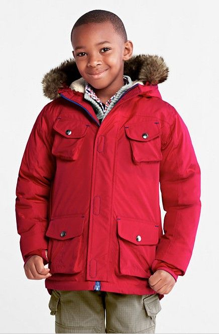 Boys' Expedition Waterproof Down Parka from Lands' End. Looking ...