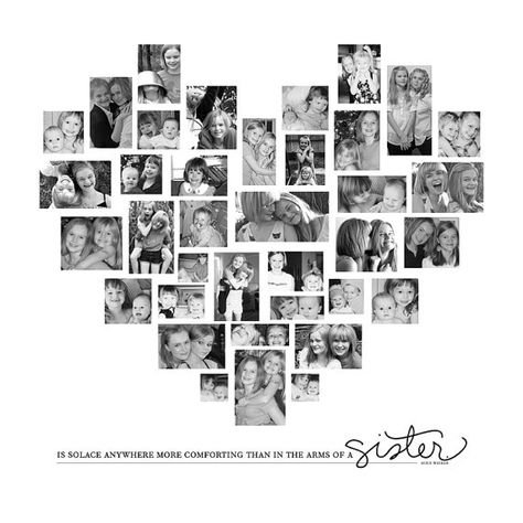 Wall Decor / Family Photo Collage / Custom Photo Canvas / Heart Collage / Photo Collage