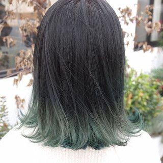 毛 先 カラー