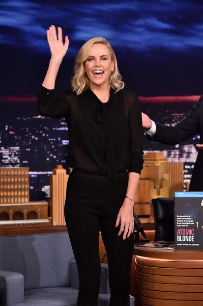 "Charlize Theron Visits ""The Tonight Show Starring Jimmy Fallon"" at Rockefeller Center on July 20, 2017 in New York City."