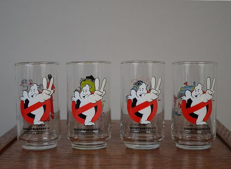 Vintage Ghostbusters Drinking Glasses Set of by ThePyrexPrincess, $38.00 How cool are these????