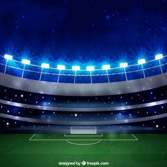 Fondo De Estadio De Futbol En Estilo Realista Estadio De Futbol Estadios Futbol