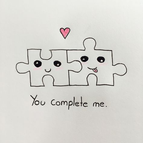 ♡puzzle pieces♡drawing♡