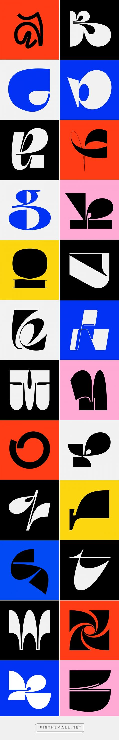 36daysoftype 2019 on Behance... - a grouped images picture