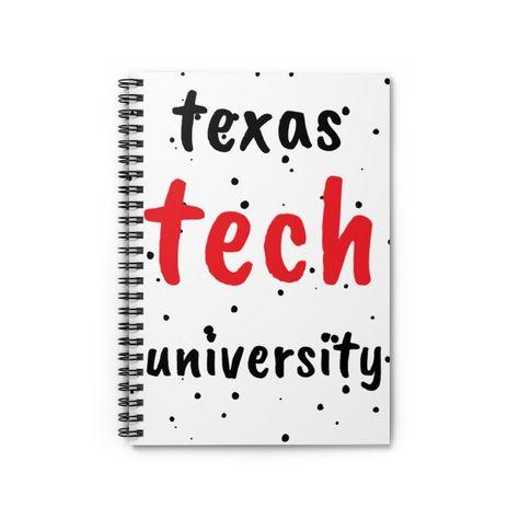 Texas Tech University Spiral Notebook - Ruled Line - Spiral Notebook