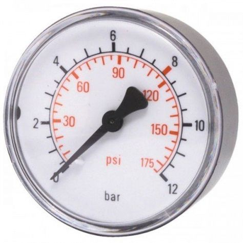 Elmag Compressed Air Pressure Gauge 50 Mm 0 10 Bar Rear With External Thread 1 8 Inch 42221 Learn More By Visiting The Image Link Out Air Pressure Gauge