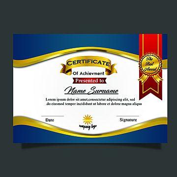 Royal Certificate Template Multipurpose Luxuryborder Certificate Of Recognition Template Certificate Templates Certificate Of Achievement Template