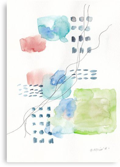 180805 Subtle Confidence 4 Watercolour Abstract Art Prints