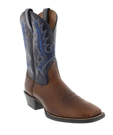 "Ariat Men's 15"" Sport Outfitter Arizona Sky and Fiddle Brown Square Toe Boots"