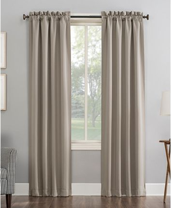 Sun Zero Preston 40 X 63 Rod Pocket Blackout Curtain Panel