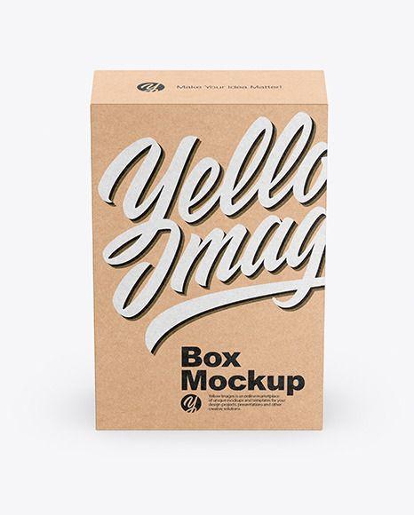 Download Kraft Box Mockup In Box Mockups On Yellow Images Object Mockupskraft Box Mockup Present Your Design On This Mode Design Mockup Free Box Mockup Free Psd Design