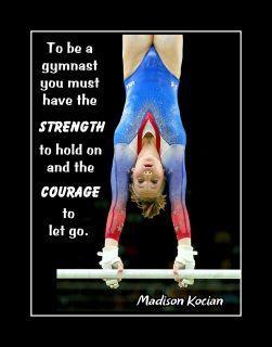 ArleyArt.com: Madison Kocian Girls Gymnastics Inspiration Poster, Daughter Motivation Wall Art Gift, Gymnast Courage Wall Art  #ArleyArtcom #Art #Courage #Daughter #Gift #Girls #Gymnast #Gymnastics #Inspiration #Kocian #Madison #Motivation #poster #Wall