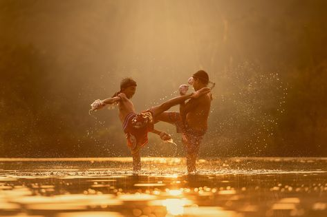 two boy playing in water during golden hour #children #fight #river #attack martial arts #boxing #boys #cloud #boxer #exercise the game #hero #kick #kickboxing #knock #laos #men's #fighting #men thai boxing #power #punch #silhouette #splash #sports the sun #asia #sunrise #sunset #thailand #traditional #training #water two people heterosexual couple #adult young adult young men #togetherness young women #people #4K #wallpaper #hdwallpaper #desktop