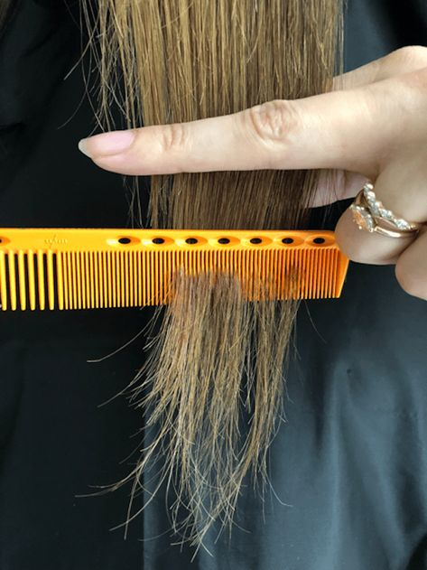 """As a professional hairstylist, the most common confession I hear is, """"I cut my own hair."""" Click inside to learn how to do it properly. Cut Own Hair, How To Cut Your Own Hair, Trim Your Own Hair, Diy Hair Layers, Layered Hair, Self Haircut, Diy Haircut, Medium Hair Cuts, Medium Hair Styles"""