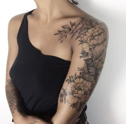 Trendy Flowers Black And White Roses Floral Tattoos Ideas Flowers