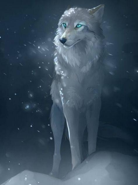 Wolf in blizzard #venus #venus #dibujo