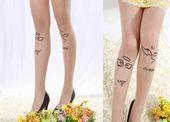 NEW 2018 Sexy Women Tattoo Cute Patterns Sheer Pantyhose Stockings Tights - #Cute #Pantyhose #Patterns #Sexy #Sheer #Stockings #Tattoo #Tights #Women