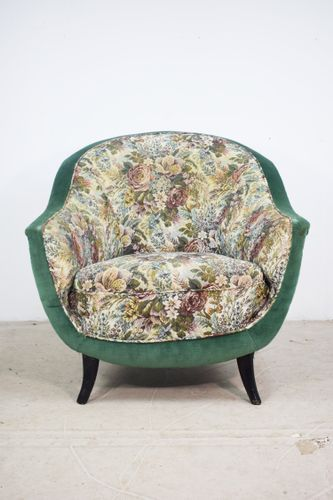 Pleasing Italian Floral Lounge Chair 1950S In 2019 Armchair Chair Squirreltailoven Fun Painted Chair Ideas Images Squirreltailovenorg