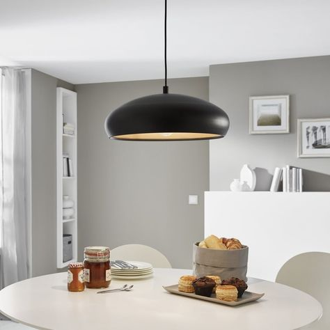 Eglo Black And Copper Mogano 1 Pendant Light Kitchen Lighting From