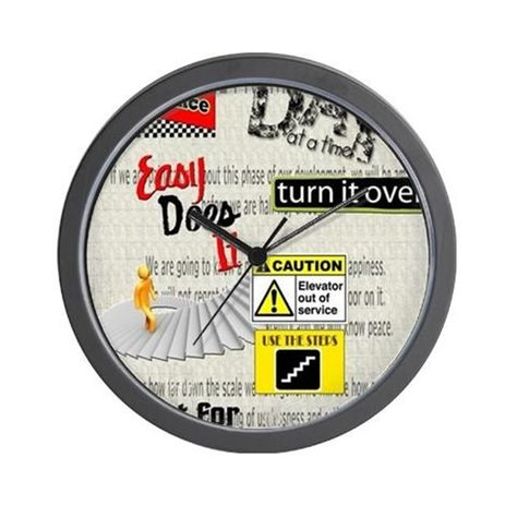12 Step Slogans Wall Clock By Thegoodlife Wall Clock Design Novelty Clocks Wall