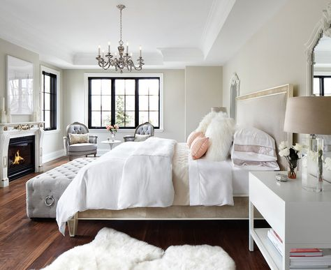The Design Company   bedrooms   modern french bedrooms  french bedroom   blush pink bed  white and pink bedding  sheepskin pillows  white she. The Design Company   bedrooms   modern french bedrooms  french