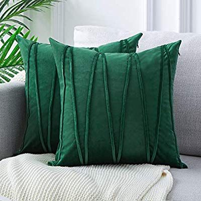 Top Finel Decorative Hand Made Throw Pillow Covers For Couch Bed Soft Particles Striped Vel Green Throw Pillows Chevron Throw Pillows Throw Pillows