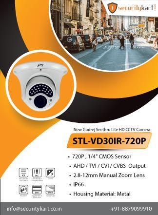 New Godrej Seethru Lite Hd Stl Vd30ir 720p Cctv Camera At Securitykart Contact Us 91 9320557088 91 8879099910 Cctv Camera Best Security Cameras Camera