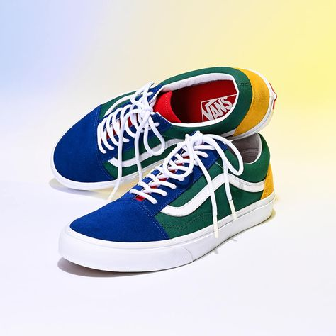 vans blue yellow green red