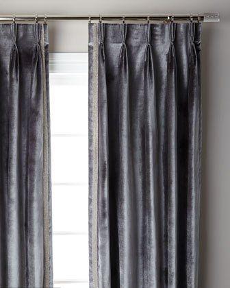 Graphite Pave 3 Fold Pinch Pleat Curtain Panel 96 Pinch Pleat