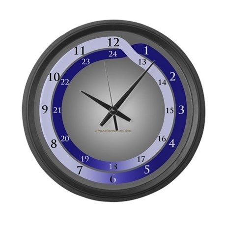 24 Hour Conventional Large Wall Clock Ad Spon Plain System Night Day Large Wall Clock Wall Clock Clock