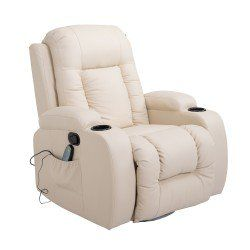 Homcom Faux Leather Heated Massage Recliner Chair With Remote Black Colchas Para Cama Sofa Reclinable Camas