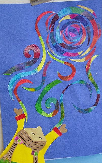 Catching Van Gogh Swirls (grade 2). This would be a great link to the