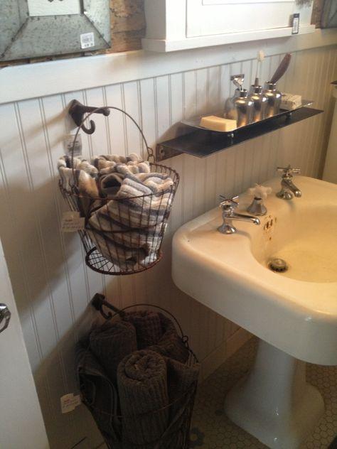 hanging baskets for bathroom storage