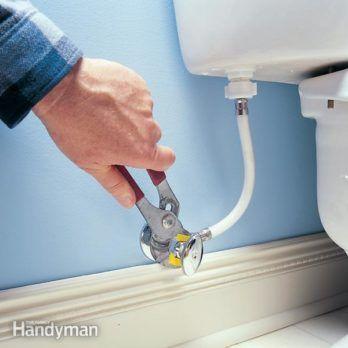 Home Repair How To Replace The Main Shut Off Valve Leaking Toilet Leaky Toilet Toilet Repair